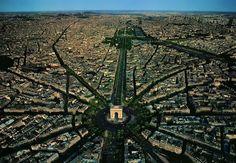 Paris, France Top View Drone Photography
