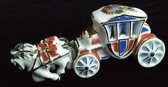 Limoges Mini French Royal Court Horse and Carriage Excellent (10/17/2013)