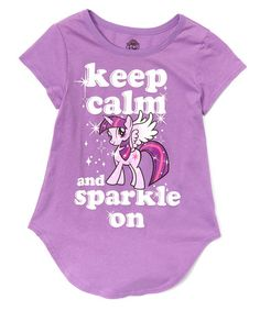 Love this Purple 'Keep Calm and Sparkle On' Swing Tee - Girls by My Little Pony on #zulily! #zulilyfinds
