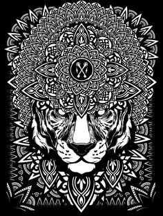 Mandala Exploration on Behance | Geometry | Geometric | Graphic Design | Black and White |