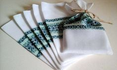 Ukrainian style ethnic woven fabric mini bags set by StudioBlueCat