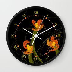 Flowerthread No1 [orange blooms] Wall Clock A flower thread unraveling in orange playful blooms. Digital painting Flowerthread No1 [orange blooms] © Marina Kanavaki https://society6.com/product/flowerthread-no1-orange-blooms_wall-clock#s6-2228754p33a33v284a34v285