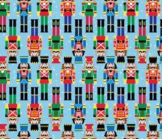 Nutcrackers fabric by lunastone on Spoonflower - custom fabric
