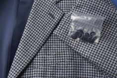 ISAIA Jacket Sport Coat  Houndstooth