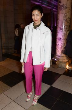 Caroline Issa at the Glamour of Italian Fashion private viewing.
