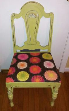 Vintage refinished & distressed chair - my design