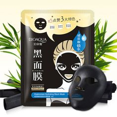 BIOAQUA Black Mask Moisturizing Facial Mask Nose Blackhead Remover Black Head Acne Treatments Face Care
