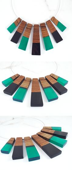 Chokers, YES or NO? We are thinking of introducing some new choker necklaces into our shop.  Which colors would you like to see? ☺   Unique wood and resin jewelry. Handmade by WoodAllGood. #WoodAllGood