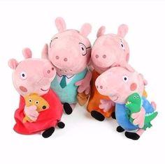 GabiPresentesonline: Peppa Pig Família 4 Personagens Antialérgico Pront...