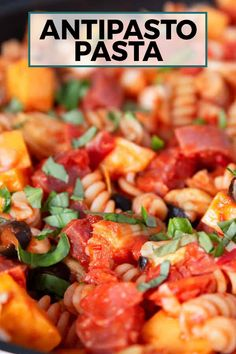 Antipasto pasta is an easy-to-make recipe that is great for weeknight dinners. The blend of sauce and salty flavors will please all lovers of Italian food! Lunch Recipes, Easy Dinner Recipes, Pasta Recipes, Healthy Recipes, Tailgating Recipes, Rice Recipes, Yummy Recipes, Most Delicious Recipe, Delicious Food