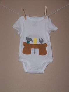 Toolbelt Applique Onesie by SewUNeek on Etsy, $18.00