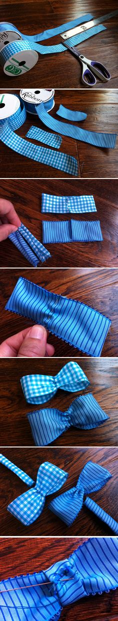 Bow Tie Tutorial - how to make bow ties out of ribbon