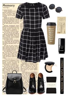 """""""Black~"""" by jovanax97 ❤ liked on Polyvore featuring Givenchy, Kate Spade, Brave Soul, Art Classics, Falke, Chanel, NYX, DutchCrafters, black and stripes"""
