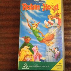 $10    Early 1990s Original Version VHS of Robin Hood - A Walt Disney Original Animated Classic / In Original White Clamshell Plastic Case by V1NTA6EJO