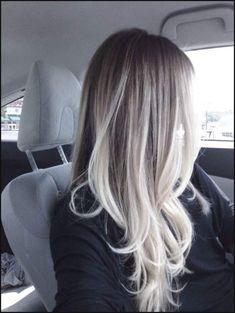 Platinum blonde balayage   Hair   Pinterest   Haar, Haarfarbe und ...   Einfache Frisuren