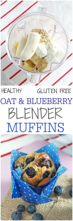 Delicious and super healthy, these gluten free Oat & Blueberry Blender Muffins are so easy to make and nutritious enough to have for breakfast! | My Fussy Eater blog