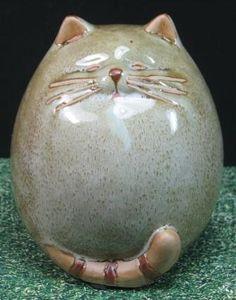 Kugelrunde Katze