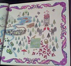 Johanna Basford Enchanted Forest Map Right Page