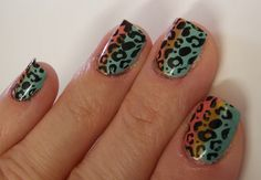 Nail art design idea. Please ignore my dry cuticles. I'll never understand how all these other users who post pictures of their manicures get them to look so perfect.