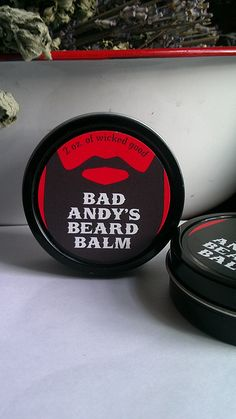 Items similar to Bad Andy's wicked good beard balm on Etsy Shaving & Grooming, Beard Grooming, Best Beard Balm, Shaving Tips, Wicked Good, Beard Care, Bearded Men, Stocking Stuffers, Bath And Body
