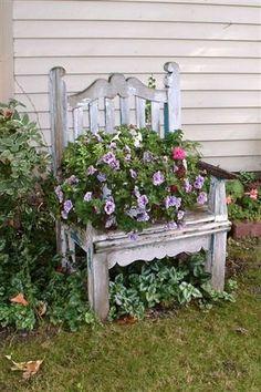Garden Chair  Seen on a garden tour in Grand Rapids Michigan
