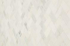 "Cabot Marble Mosaic - Carrara Marble Series Arabescato Herring Bone / 1""x2"" / Honed    Kitchen Backsplash"
