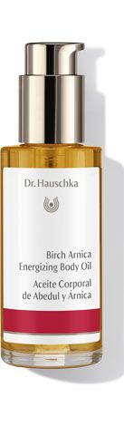 Birch Arnica Energizing Body Oil - After strenuous activity or sauna, the skin welcomes revitalization. Birch Arnica Energizing Body Oil's refreshing minty-lemony scent awakens the mind as nourishing plant extracts join jojoba oil to maintain moisture balance for soft, supple skin. Tired muscles are soothed and warmed for a feeling of greater comfort and flexibility.