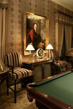 American country interior,home decor for American country style,home interior decor,practical home design,color of American country interior English Country Manor, English Style, English Inn, Downton Abbey, Palaces, Billards Room, Masculine Room, Country Interior, Second Empire
