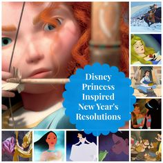 Try these Disney Princess inspired resolutions for a fresh start to the new year. #resolution #2014