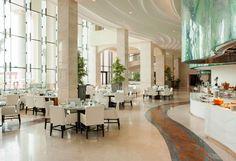 The St. Regis Saadiyat Island Resort - Olea (Latin for Olive Tree) Mediterranean All-Day Dining Restaurant.