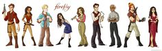 I don't think I've pinned this before, and this is my favorite cartoonized Firefly characters, I think... :D