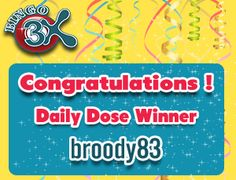 Every week we pick a #lucky #winner who receives #bingo bonus of £3 everyday for an entire week