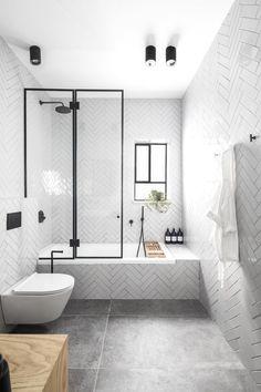 40 Luxury Bathroom Designs With Modern Shower - FashDeco Bathroom Interior Design, Shower Tub, Minimalist Bathroom Design, Bathroom Makeover, Amazing Bathrooms, Tub Shower Combo, Luxury Bathroom, Industrial Home Design, Small Bathroom Makeover