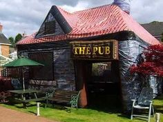 For $343 you could have your very own Irish pub set up on your own garden for a wedding, party or St Patrick's Day.