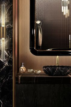 Bathroom furniture is typically a mirror, cabinet and towel racks, however, to give more personality, we can add colour tiles and wallpaper. Bathrooms are a place for relaxation, introspection, 'me-time'.  #bathroomdesign #contemporarybathrooms #modernbathrooms #classicbathrooms #mid-centurybathrooms #eclecticbathrooms #luxurybathrooms