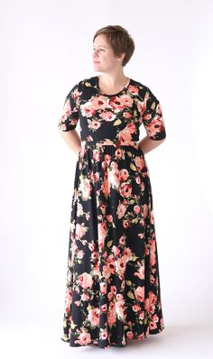 Classic Tee Maxi Dress Pattern   This gorgeous maxi dress is perfect for spring!