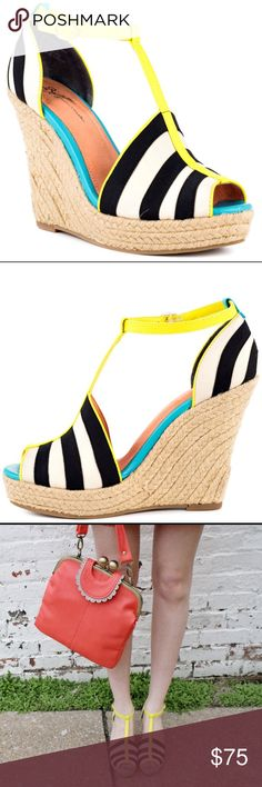 """Seychelles x Corey Lynn Calter wedges Amazing 'Stop Trafic' wedges by Seychelles colab with Corey Lynn Clatter. They measures 4.75"""" heel and 1"""" platform. Size 7.5. New without box. No trades. Anthropologie Shoes Wedges"""