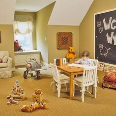 A good play room has to have a chalk wall!