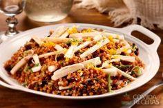 Receita de Salada de trigo, palmito e raspas de laranja em receitas de saladas, veja essa e outras receitas aqui!