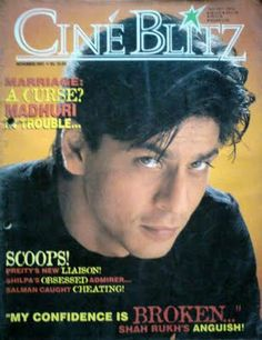 SRK - Cine Blitz magazine cover November 2002