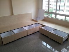 Customized sofa with storage. Add your own cushions