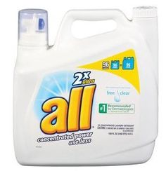 WE use this for our clothes and baby clothes. Works great.   All 2x Ultra Free Clear Liquid Laundry Detergent, 150 Oz
