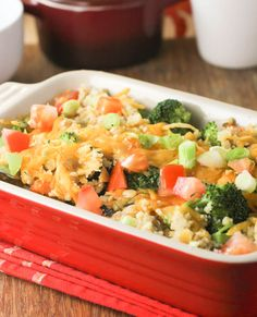 Baked Quinoa Casserole with Chicken and Broccoli. Sounds yummy!!