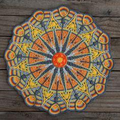 Crochet Overlay Mandala No. Pattern, PDF in Englis, Deutsch Crochet Overlay Mandala No. 6 Pattern PDF by CAROcreated on Etsy, Motif Mandala Crochet, Crochet Motifs, Crochet Circles, Crochet Blocks, Tapestry Crochet, Crochet Squares, Crochet Doilies, Crochet Stitches, Crochet Patterns