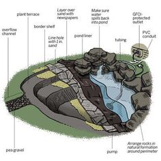 How to create a free-form backyard pond in just one day! | Illustration: Gregory Nemec | thisoldhouse.com