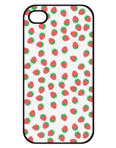 Strawberries Everywhere iPhone 4 / 4S Case by TooLoud