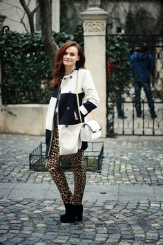 Discover this look wearing White Printed OASAP Coats, White Chain Zara Bags, Tawny Leopard Print Zara Pants - Smile by Chaba styled for Comfortable, Dinner Date in the Spring Leopard Fashion, Zara Bags, Mix Match, Street Style, Style Inspiration, Smile, Chic, Model, How To Wear