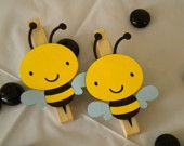Bumble Bee Clothespins-Set of 12