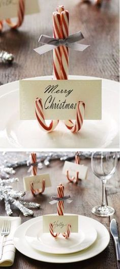 15 Christmas Projects DIY Christmas Projects - Get in the holiday spirit with 15 Christmas projects!DIY Christmas Projects - Get in the holiday spirit with 15 Christmas projects! Noel Christmas, Winter Christmas, Christmas Dishes, Christmas Ornaments, Christmas Place Cards, Scandinavian Christmas, Christmas Place Setting, Candy Cane Christmas, Christmas 2019