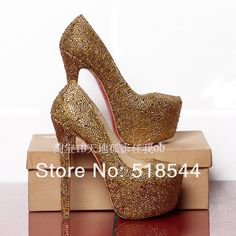 2013 red bottom high heels wedding pump Giltter Royal Blue Black Gold Red with Rhinestones crytsal Brand prom shoes for women 16 $98.98